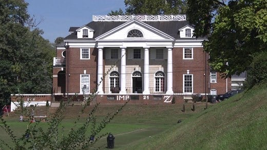 Phi Kappa Psi fraternity house at the University of Virginia (FILE)