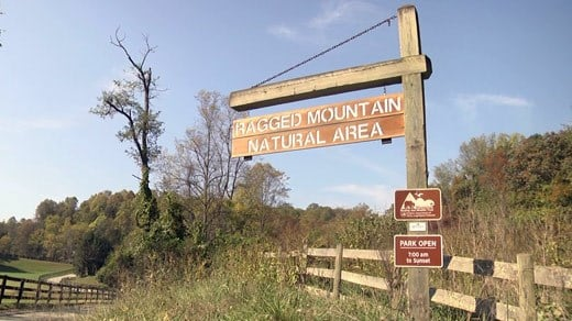 Sign for the Ragged Mountain Natural Area (FILE IMAGE)