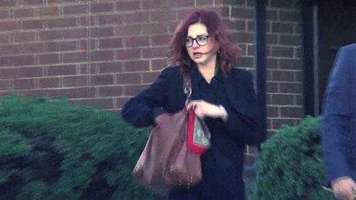 Elisabeth Garber-Paul leaving court in Charlottesville