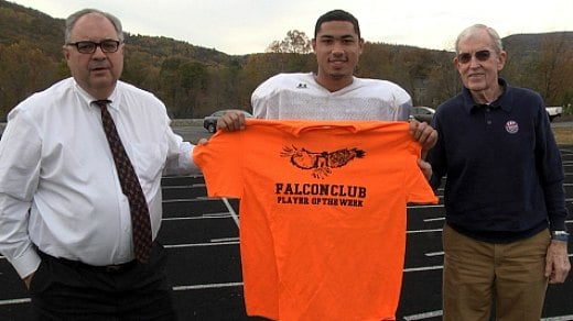 Justin Armwood is the Falcon Club Player of the Week