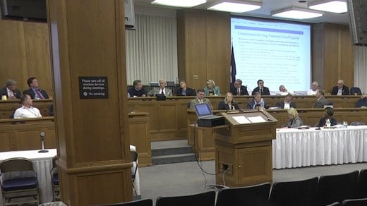 Virginia lawmakers and officials discussing various issues related to the state's budget (FILE)