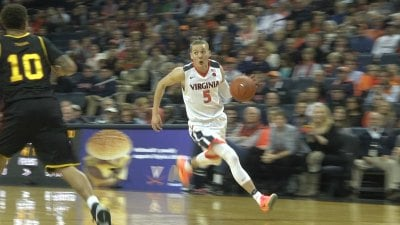 Kyle Guy scored a career-high 20 points for UVa