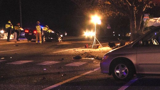 Police on the scene of a fatal crash on 5th Street in Charlottesville (FILE)