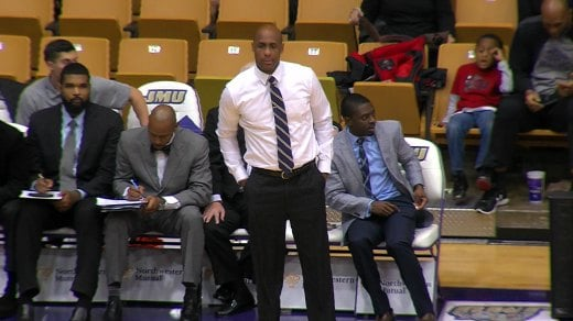 JMU Men's Basketball Coach Louis Rowe