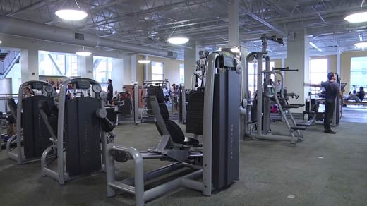 People working out at ACAC in downtown Charlottesville