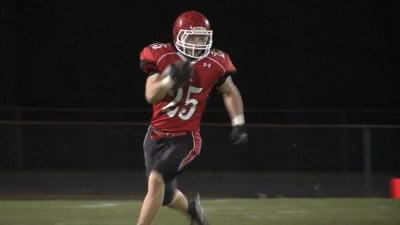 Brett Hostetler returned a punt for a TD for Riverheads