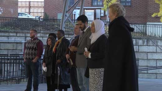 religious leaders at prayer walk on Downtown Mall