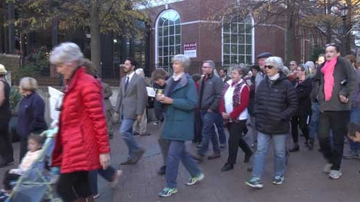 prayer walk on Downtown Mall in Charlottesville