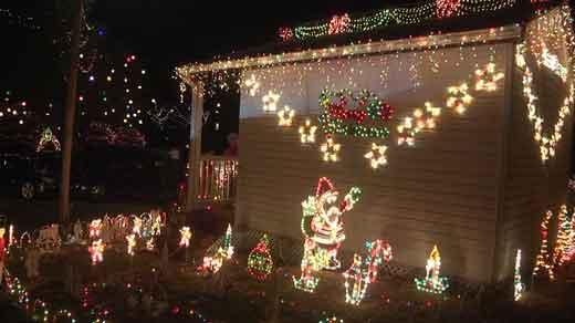 Perkins family light show