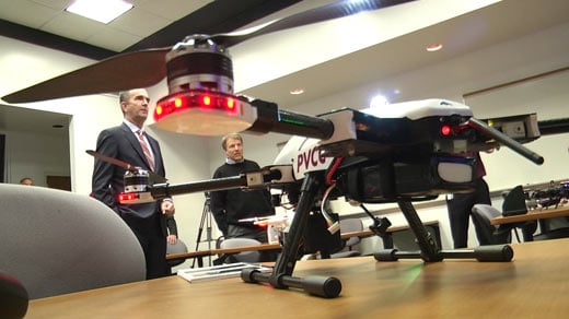 Virginia Lt. Gov. Ralph Northam visits drone program at PVCC in Albemarle County