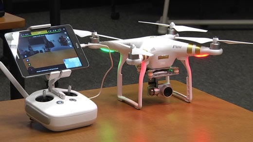 Drone used in Piedmont Virginia Community College's Small Unmanned Aerial Systems program