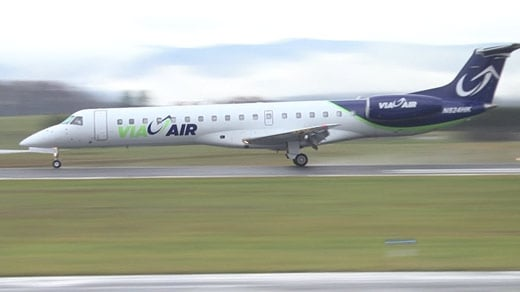 ViaAir jet at Shenandoah Valley Regional Airport