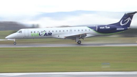 ViaAir jet at Shenandoah Valley Regional Airport