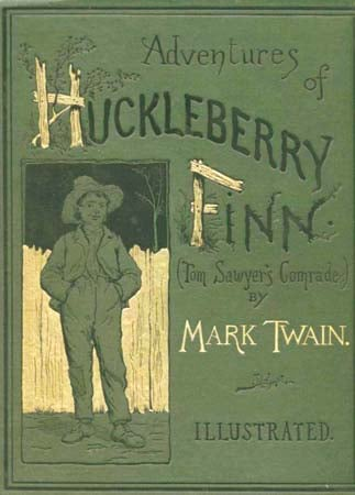 """Adventures of Huckleberry Finn"" by Mark Twain"