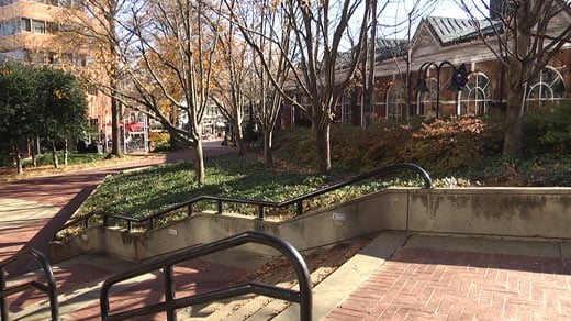 General area for the new Vinegar Hill Park on Charlottesville's Downtown Mall