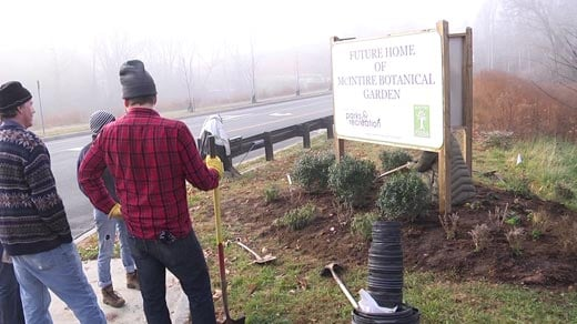 Volunteers establishing the first plants at the McIntire Botanical Garden in Charlottesville