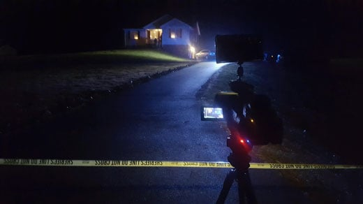 Scene of the shooting on Morris Mill Road (FILE)