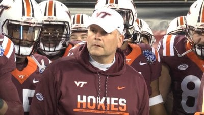 Virginia Tech head coach Justin Fuente