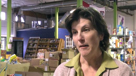 Karen Ratzlaff with the Blue Ridge Area Food Bank