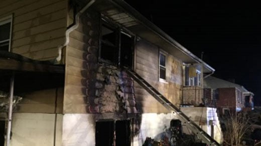 House fire near Park Street (Image courtesy the Charlottesville Fire Department)