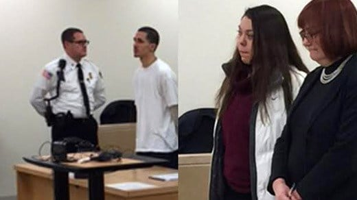 Joshua Hart and Brittany Smith in Bay State Superior Court (FILE IMAGES)