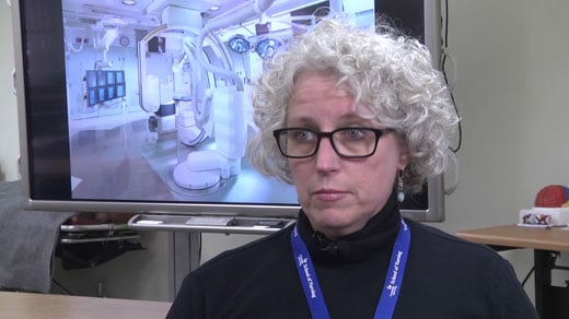 University of Virginia Health System nurse Beth Hundt
