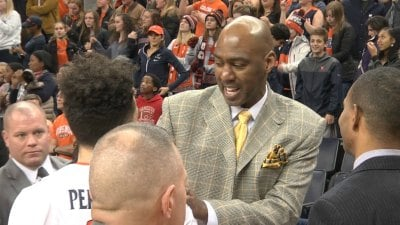 Danny Manning spoke with London Perrantes following the 79-62 win by UVa