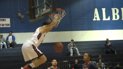 Austin Katstra had 22 points and this dunk in Albemarle's win over Orange