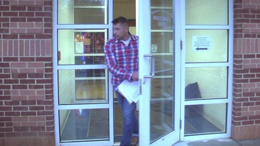 Christopher Alan Seymore leaving Albemarle Charlottesville Regional Jail (FILE)