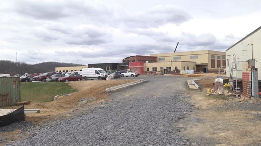 Construction on Riverheads Elementary School in Augusta County