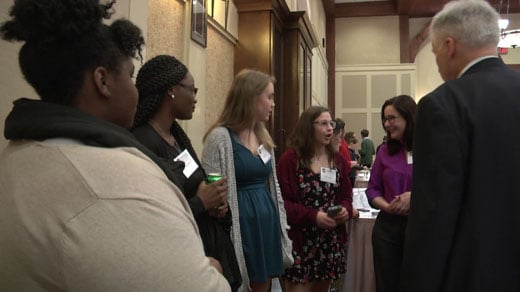 High school students from Albemarle County and Charlottesville met at the Boars Head Inn Thursday