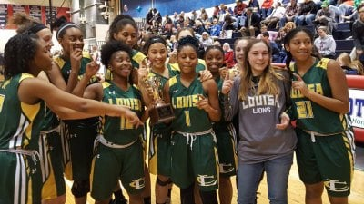 The Louisa County HS Girls Basketball Team Wins the Jefferson District Tournament Championship