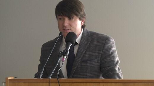 Jason Kessler holding a news conference in Charlottesville