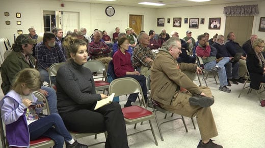 A town hall was held for Suarts Draft residents Thursday night