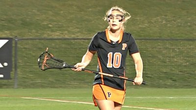 Freshman midfielder Annie Cory scored the first goal of her college career