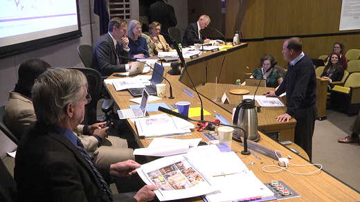John Dewberry speaking at City Council in March