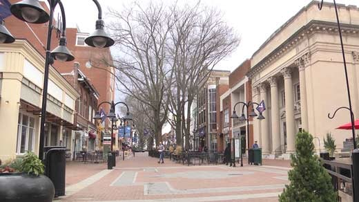 Charlottesville's historic Downtown Mall