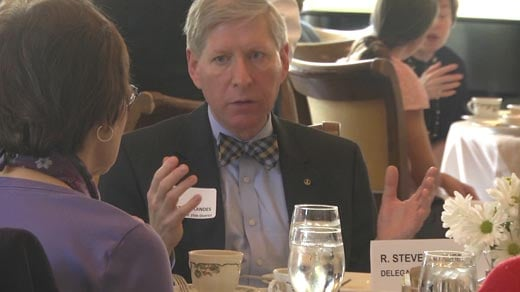 Delegate Landes attending an event at the Greencroft Club in Albemarle County