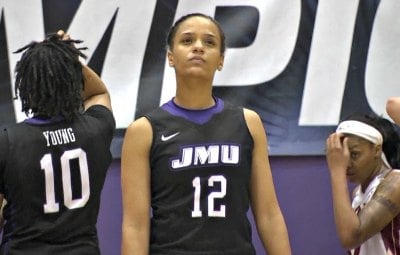Precious Hall scored 32 points for JMU