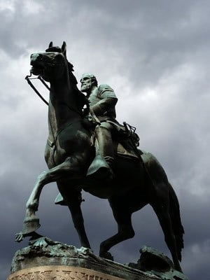 "Statue of Gen. Thomas ""Stonewall"" Jackson in downtown Charlottesville (FILE IMAGE)"