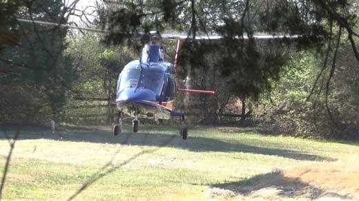 Pegasus taking off near the scene of a crash on Route 53