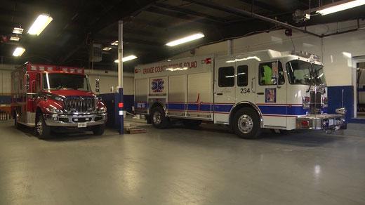 Orange County Volunteer Rescue Squad vehicles (FILE)