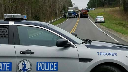 Virginia State Police on the scene of a fatal crash in Buckingham County