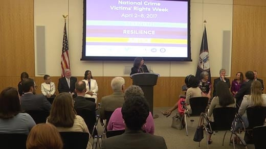 Ceremony commemorating victims' rights in Richmond