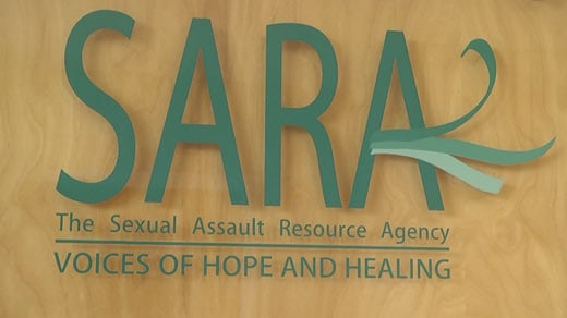 Sign for the Sexual Assault Resource Agency (FILE IMAGE)