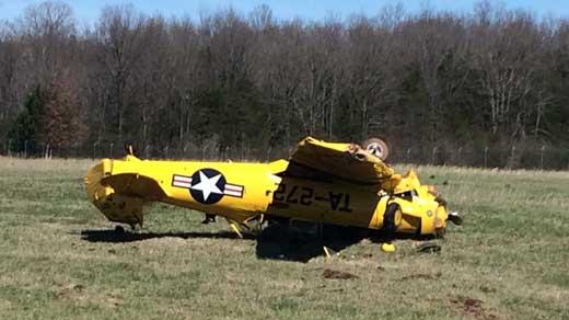plane crash at Culpeper Regional Airport
