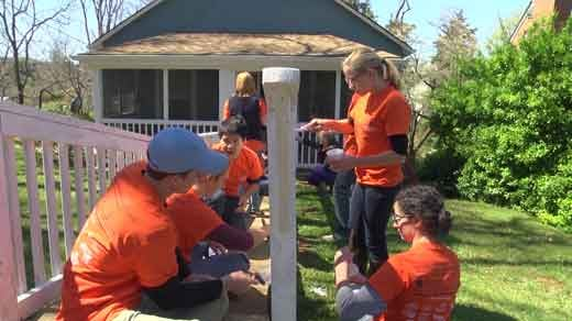 "UVA Darden students participating in BGF's ""April Build Day"" for community"