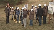 A crowd turned out for a groundbreaking for the $1.3 million Lewis and Clark Discovery Center.