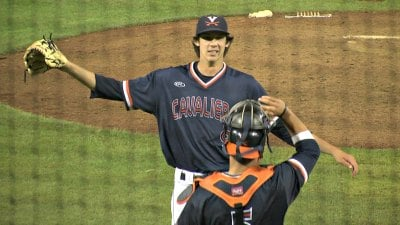 Virginia sophomore pitcher Daniel Lynch