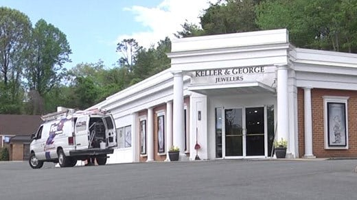 Keller & George Jewelers cleaning up after reportedly being burglarized